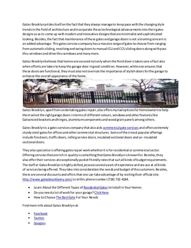 My latest upload : Get access to a wide range and styles of gates… on @slideshare http://www.slideshare.net/gates-brooklyn/get-access-to-a-wide-range-and-styles-of-gates-for-installations-as-well-as-repairs-with-gates-brooklyn via @SlideShare
