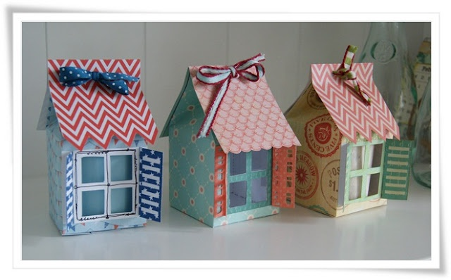 little paper houses with a free template