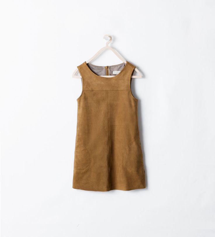 faux leather...PINAFORE WITH POCKETS