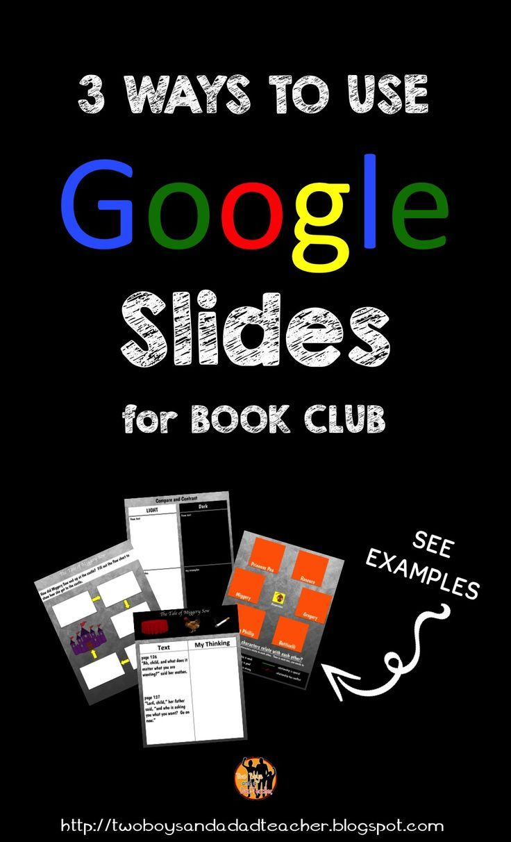 Get rid of those composition books you use for double entry journals.  Go paperless with Google Slides.  I created templates to use in Google Slides for my students who are in a book club reading The Tale of Despereaux.  Now they fill out a double-entry journal online, compare and contrast online, analyze characters online and even complete a flow chart online.  Read  my blog to see how I did it!