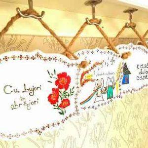 Placuta decorativa handmade with love by Fuioru Fermecat