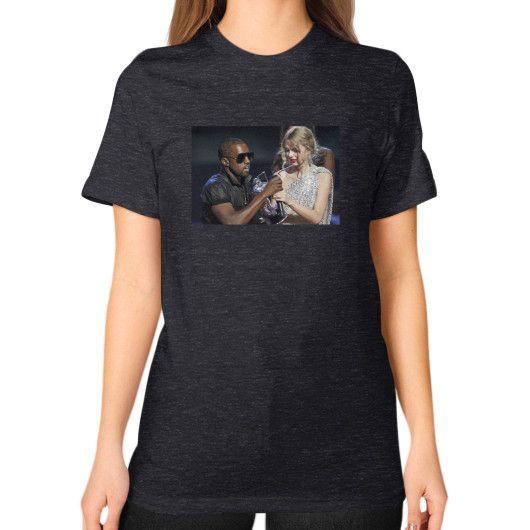 Kanye Taylor Unisex T-Shirt (on woman)