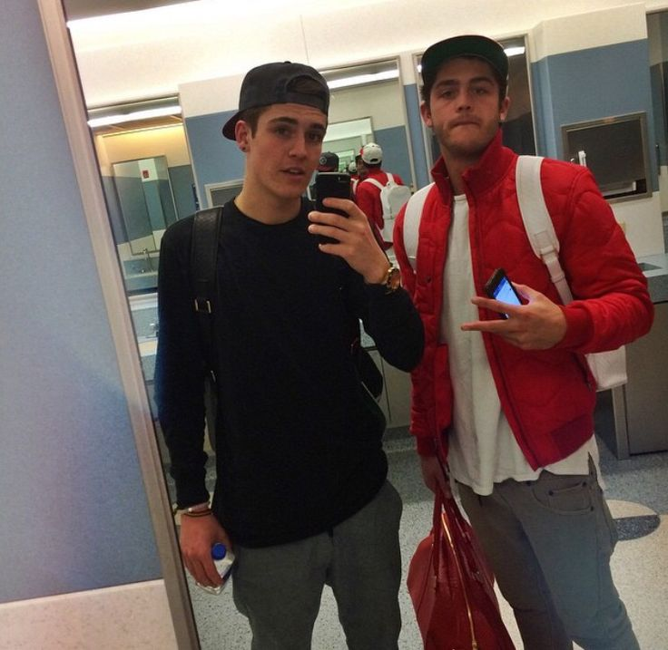 Skate Maloley and Sam Wilkinson Primed out trying to catch a flight.