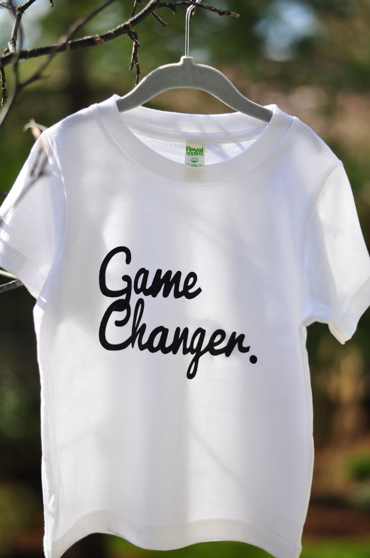 "Hand printed on Royal Apparel Organic Kids Fine Jersey Short Sleeve Tee using eco-friendly, water based inks. $1.00 (cad) for every ""Game Changer"" shirt sold will be donated to the ""BCSPCA"" organization.'"