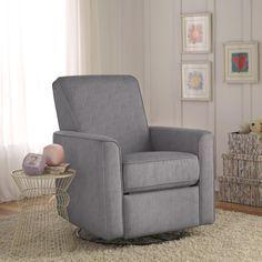 Zoey Grey Nursery Swivel Glider Recliner Chair. #reclinerreviews #bestreclinersreviews #bestrecliner http://www.bestrecliner.net/