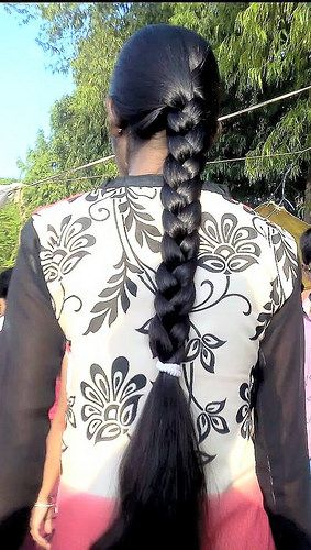 Lovely thick black braid | indian braided hair | Flickr