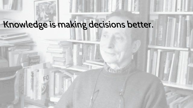 Knowledge is making decisions better–Richard Hollis