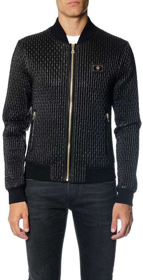 Dolce & Gabbana Crown Logo Quilted Nylon Bomber Jacket