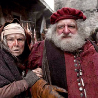 The Hollow Crown. Mistress Quickley (Julie Walters...Mrs. Weasley to the uninitiated) and Sir John Falstaff.  Falstaff appears as in Shakespeare's comedy, The Merry Wives of Windsor, Shakespeare's history, Henry IV: Parts 1 & 2, and is referred to in Henry V