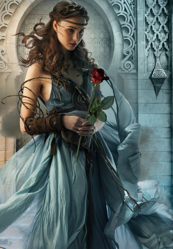 Cover art by Larry Rostant for the french edition of THE GIRL OF FIRE AND THORNS by Rae Carson.
