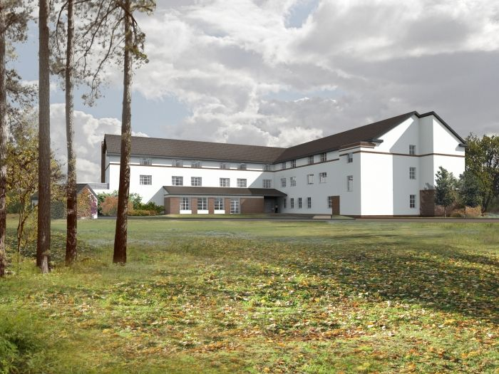 Nursing Home in Gryfice, Poland - concept design by Archimed Architecture, rendering