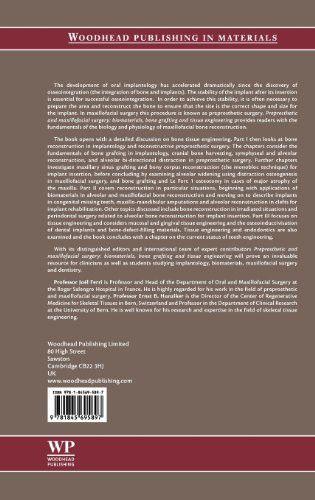 Preprosthetic and Maxillofacial Surgery: Biomaterials, Bone Grafting and Tissue Engineering (Woodhea