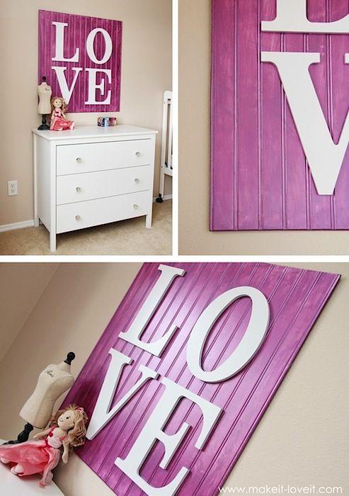 teen room poster walls | Teen Room LOVE Letter Accessories | KidSpace Interiors