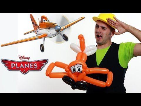 ▶ Planes Disney Dusty - Aeroplano Dusty con Palloncini - Tutorial 30 - Feste Compleanni - YouTube