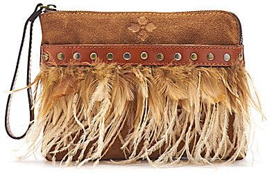 Leather Statement Clutch - Boho Embroidery by VIDA VIDA Gj26gwx1E