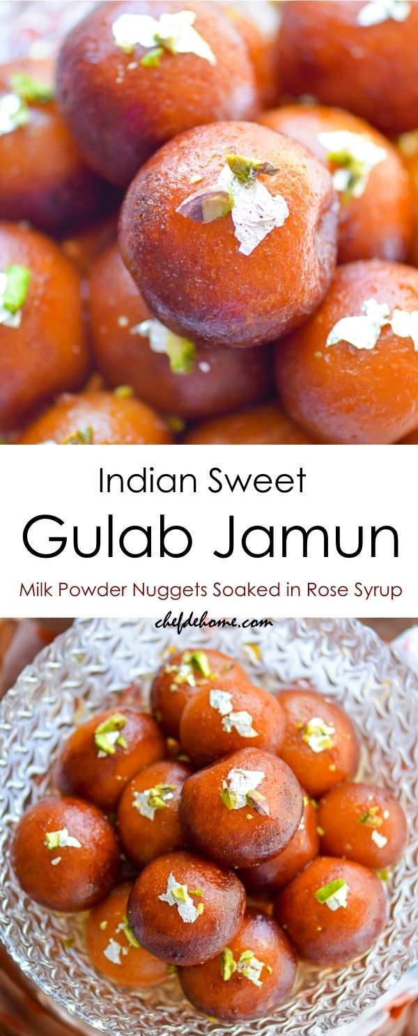 Easy Indian Gulab Jamun with Milk Powder -Milk Powder Nuggets Soaked in Rose Syrup!