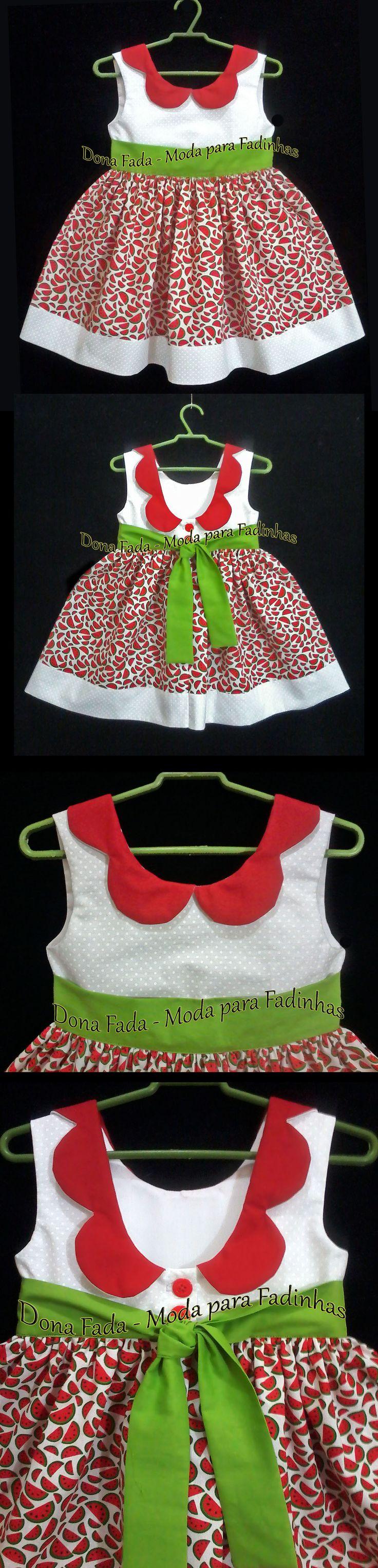 Vestido Melancias - 2 anos_______________baby - infant - toddler - kids - clothes for girls - - - https://www.facebook.com/dona.fada.moda.para.fadinhas/