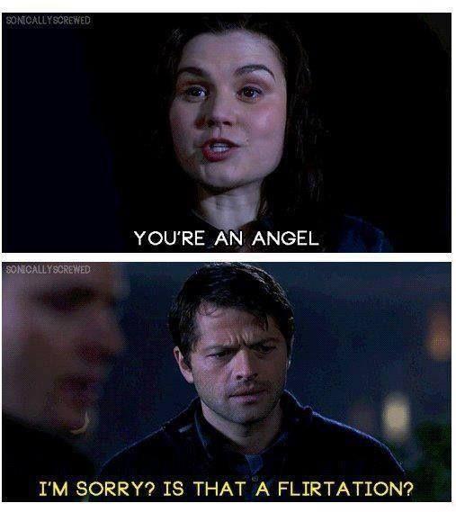 AWWW Cas I'm sorry. Is that a flirtation?  Supernatural S07E17: https://www.youtube.com/watch?v=1DEwYjVkcOM