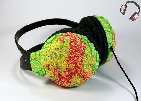 Citrus handmade headphones