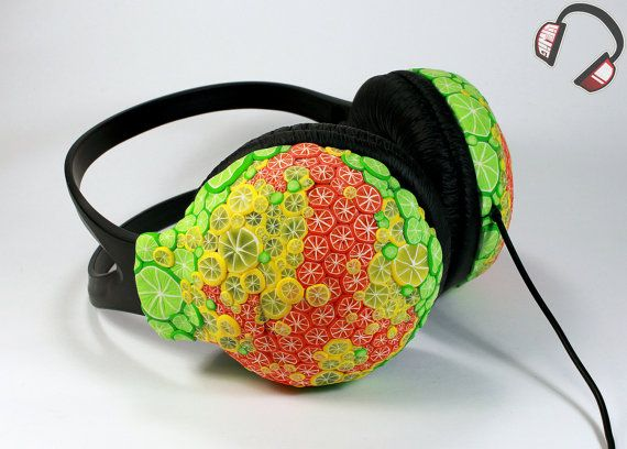 Citrus handmade headphones