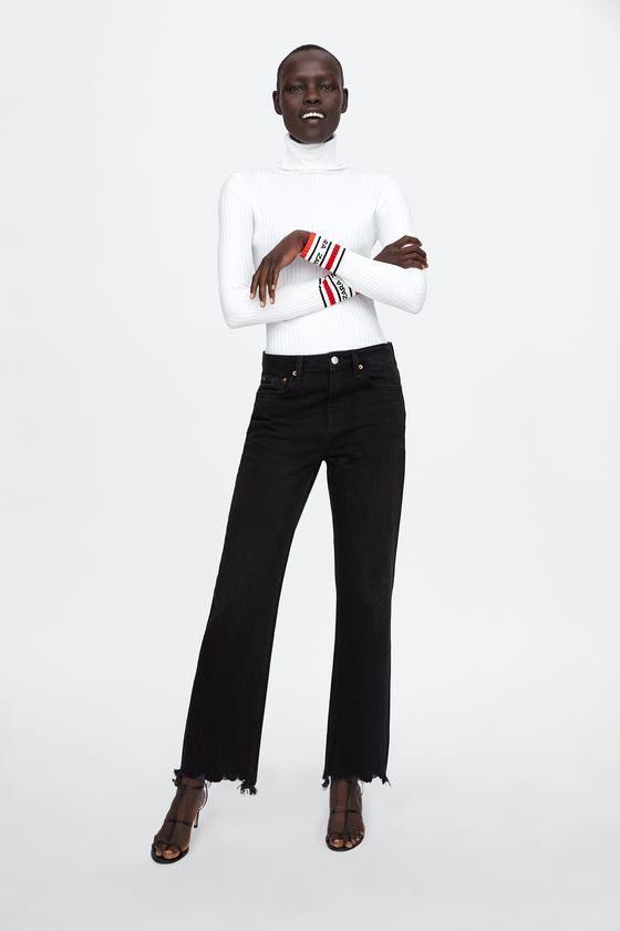 4f83ee91c2 JERSEY CANALÉ LOGO | BOOTS ® I ♥ Rad | Zara logo, Ribbed sweater, Zara