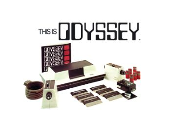 The 1st commercial video game console. Released in 1972. Made by Magnavox. The Odyssey console came packaged with dice, paper money, and other board game paraphernalia to go along with the games, and a peripheral controller—the first video game light gun—was sold separately.