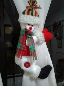 Ideas para Decoracion con Monos de Nieve de Fieltro
