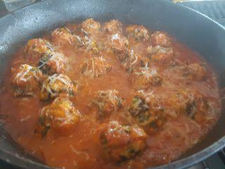 Merryn's Menu: Spinach and Ricotta Polpettine in Tomato Passata