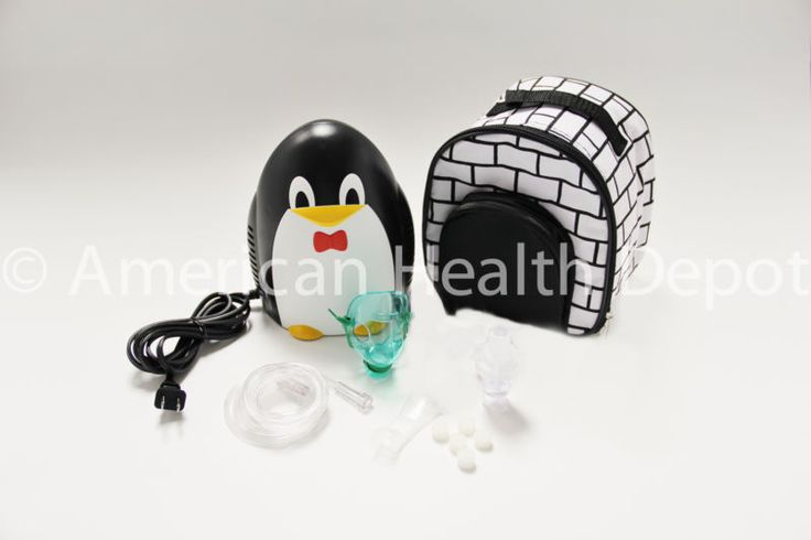 Child Pediatric Nebulizer Aerosol Compressor with Kit treats Asthma COPD Penguin #ad