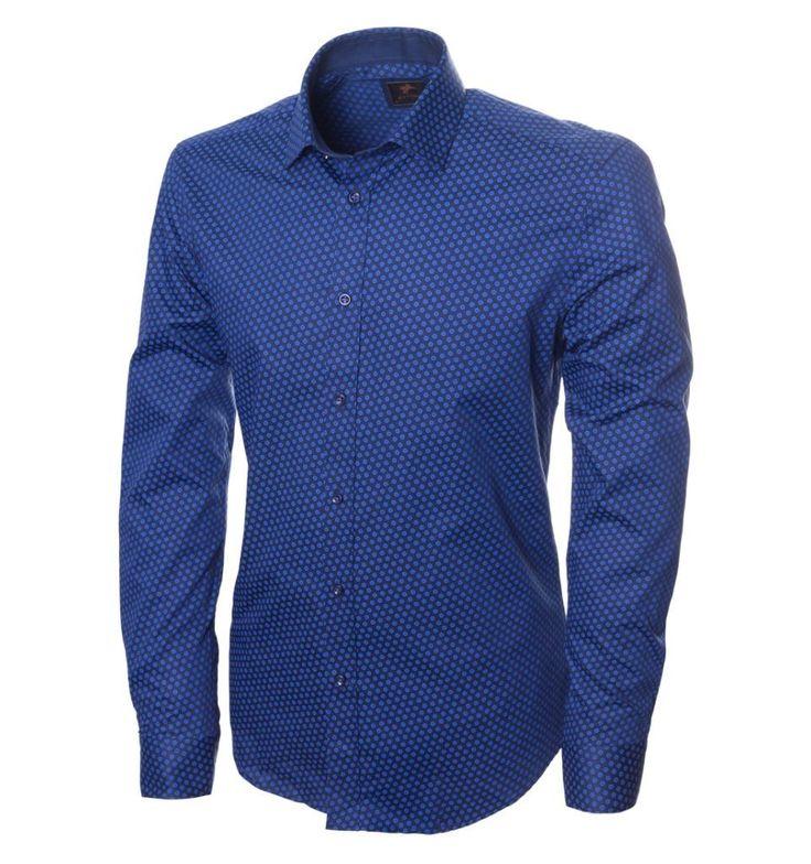 Синяя рубашка в цветочек Ettore по супер выгодной цене 3490 руб, с бесплатной доставкой по Москве и России без предоплаты. В наличие размеры XXL XL L S M, приезжайте к нам в магазин!