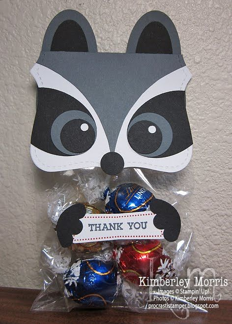 2013 Raccoon Treat Topper: click through for a quick video tutorial, and more details on supplies.