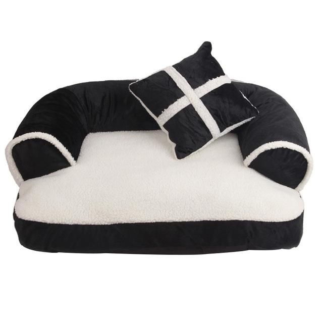 Luxury Soft Fleece Sofa Bed With Pillow Cozy Dog Bed Pet Sofa Bed Dog Sofa Bed Dog Pet Beds