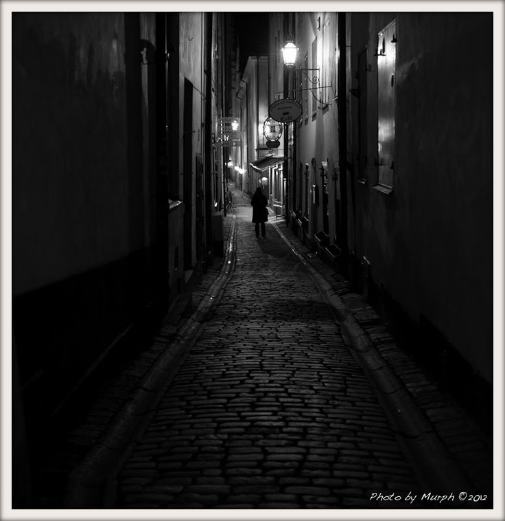 Alley in Stockholm, Oct 2012.