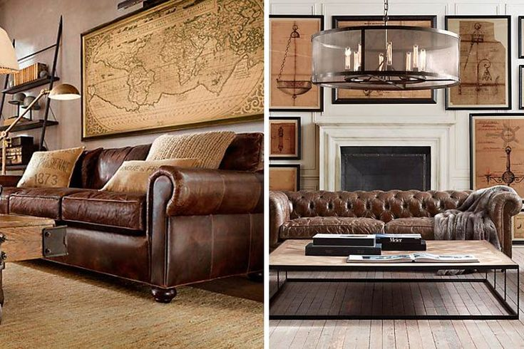 78 ideas sobre sof s de cuero en pinterest sof s de for Sofas clasicos de piel
