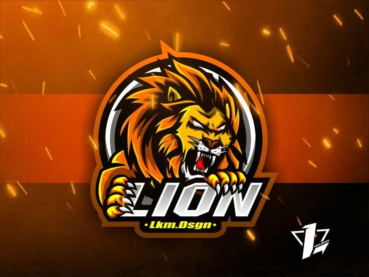 Lion mascot logo mascot game logo design game logo