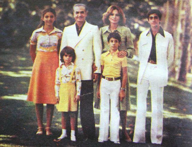 OĞUZ TOPOĞLU : şah muhammed rıza pehlevi ve ailesi 1977