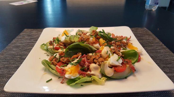 Salade met kipgehakt