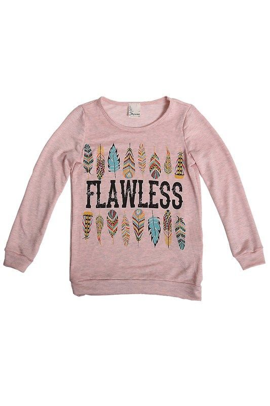 FLAWLESS FEATHER KIDS TOP SIZE FOR AGE 6/8-9/10-12 (S-M-L) MADE IN USA Fabric 70%RAYON, 26% POLYESTER, 4% SPANDEX Made in MADE IN U.S.A.