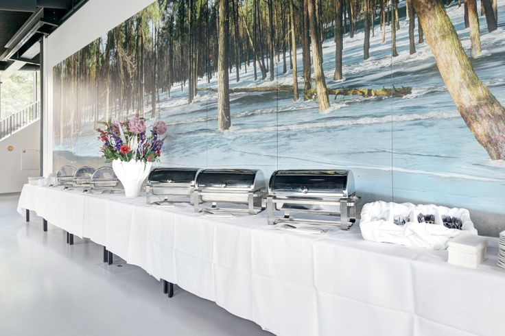 Buffet in congreszaal Maitland