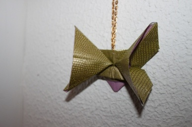 Serpent origami butterfly