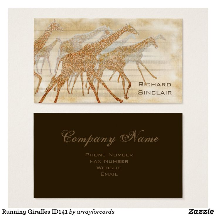 zazzle wedding invitations promo code%0A Running Giraffes Business Card You can almost feel the African sun beating  down and the dust