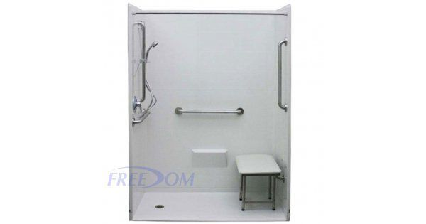 Freedom Accessible Shower Left Drain 5 Piece 54 X 36
