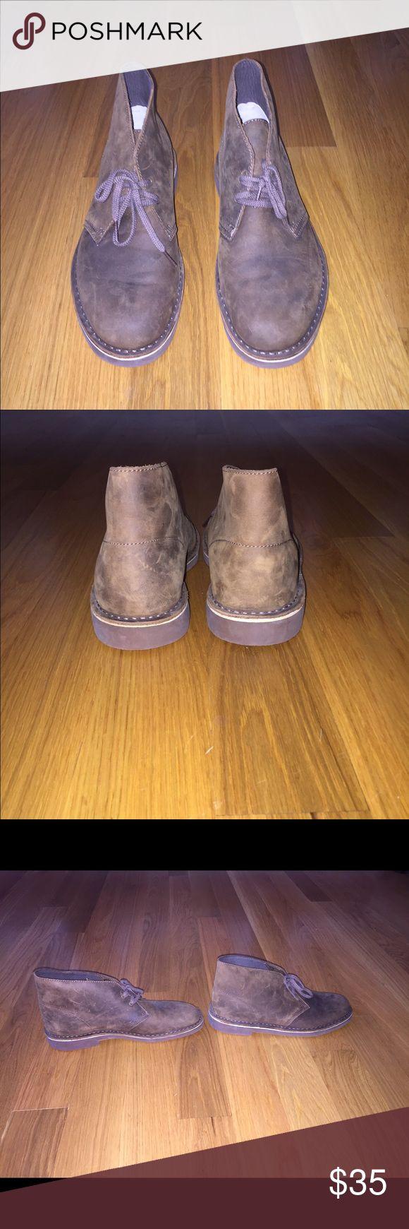 Mens Clarks Chukka Desert Boots New 9M New without box, men's Clarks brown leather Chukka desert boots, 9M. Clarks Shoes Chukka Boots