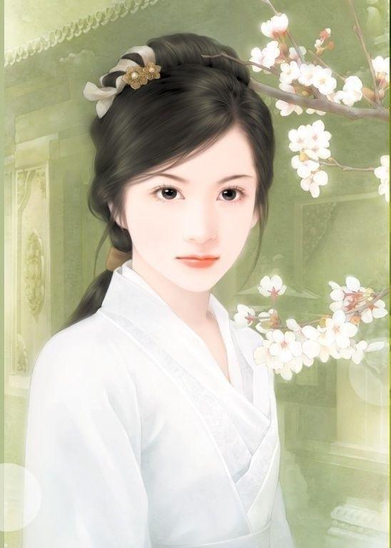 Post card art (Chinese Hanfu Hairstyle 45)
