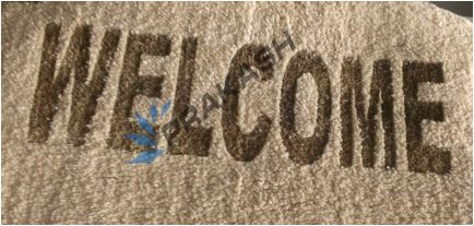 Carpet engraving by CMA-960 by prakash. for more details please visit.. www.lasercuttingmachines.co.in