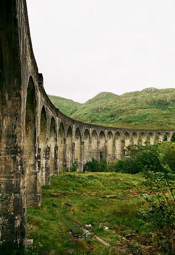 Glenfinnan Viaduct.    And, I thought it was the railway to Hogwarts.   Hey, it is a railway!