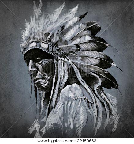 indios nativos americanos tatuajes - Buscar con Google
