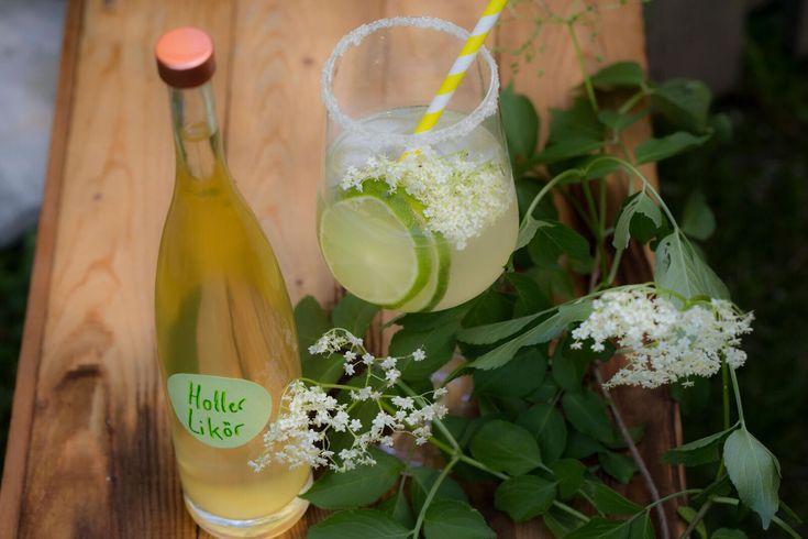 Holunderblütensekt & sommerlicher Cocktail mit Holunderblütenlikör