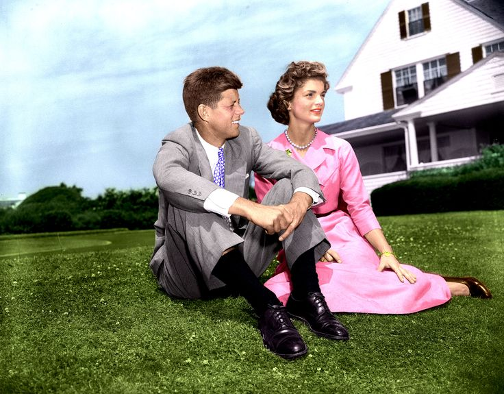 John F Kennedy And Jacqueline Bouvier On June 27 1953