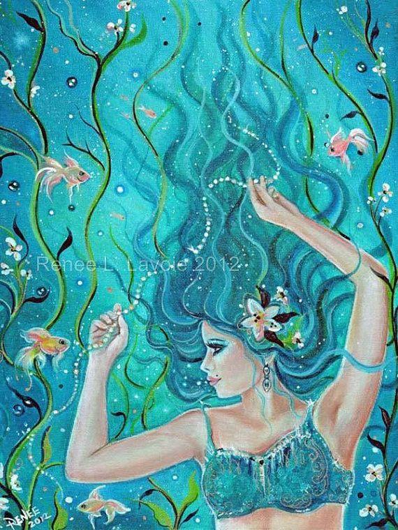 17 Best Images About Mermaid Art Original Mermaids On